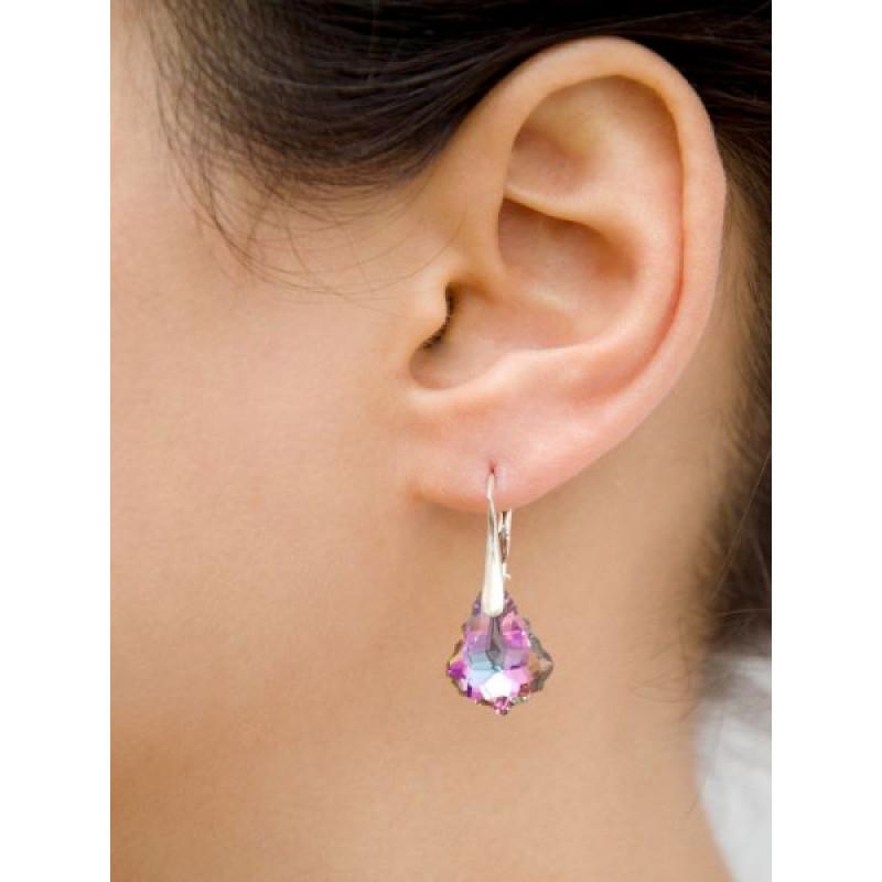 Earrings Baroque, Aquamarine AB