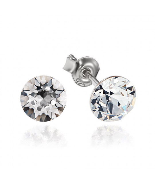 Earrings Xirius, Crystal Clear, 6 mm