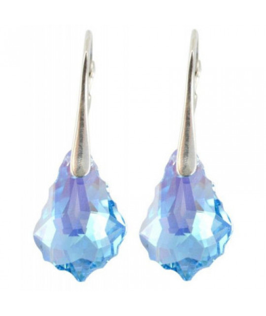 Earrings Baroque, Aquamarine AB