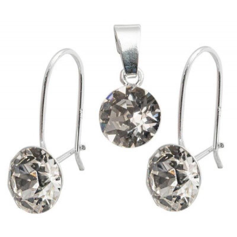 Set of Xirius Wire: earrings + pendant, Crystal Clear