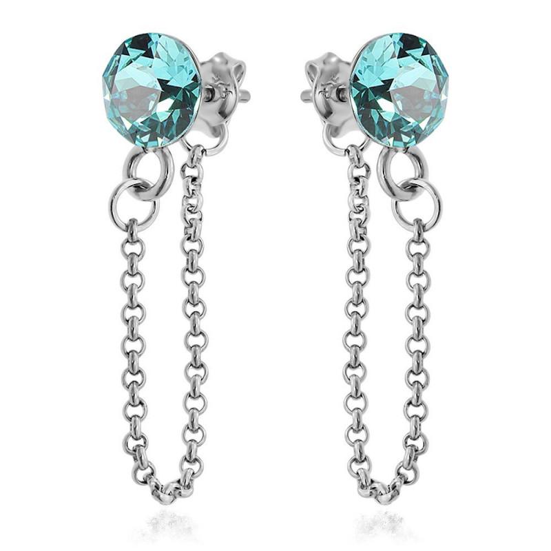 Earrings Xirius Chain, Light Turquoise