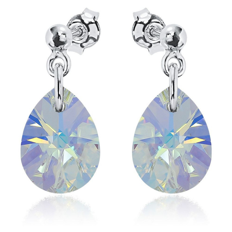 Earrings Xilion Mini Pear, Blue AB