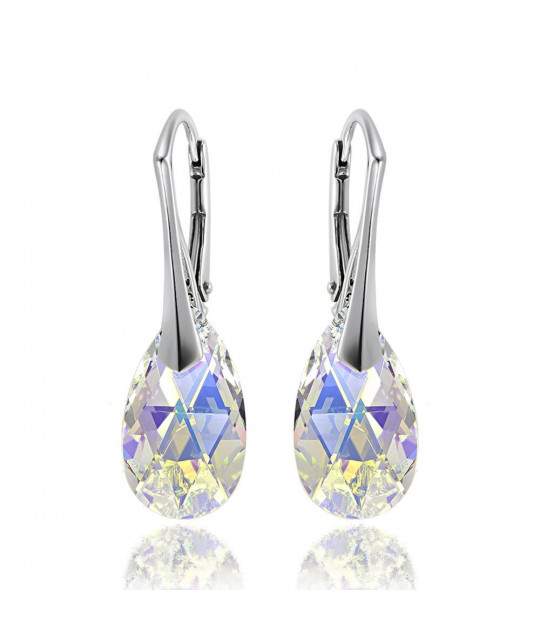 Earrings Pear, Aurore Boreale AB, 16 mm
