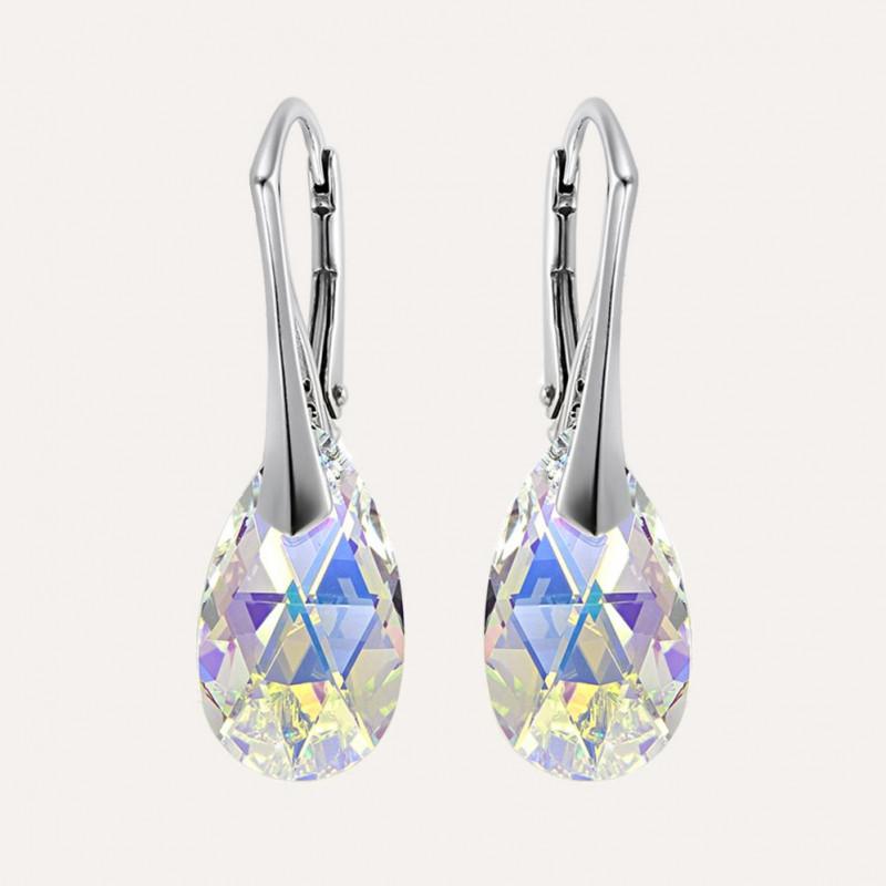 Earrings Pear, Aurore Boreale AB, 16 mm