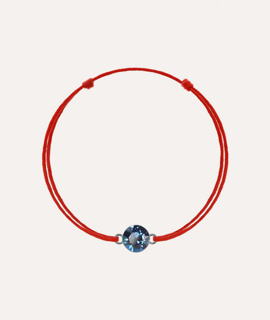 Kabbalah with Swarovski Xirius crystal, Bermuda Blue