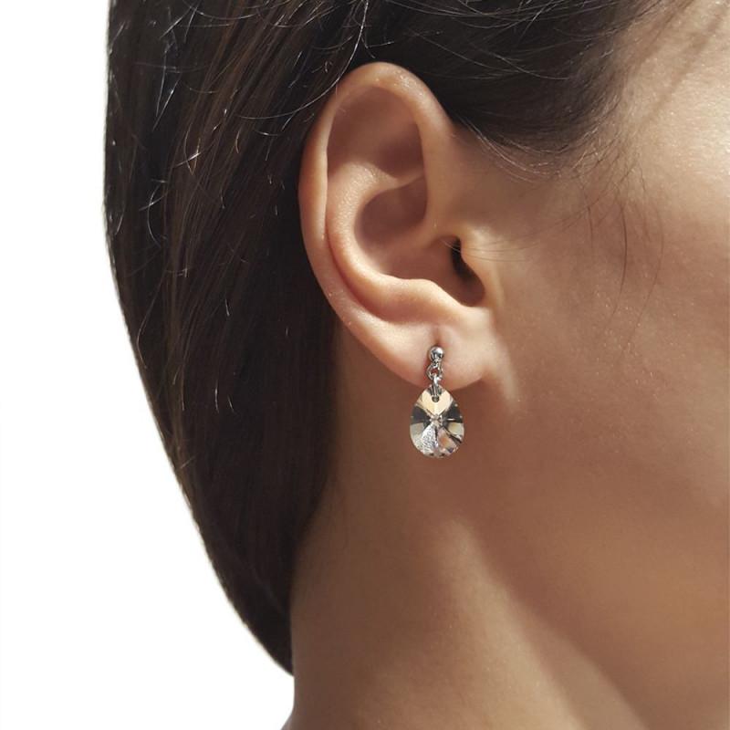 Earrings Xilion Mini Pear, Blue AB