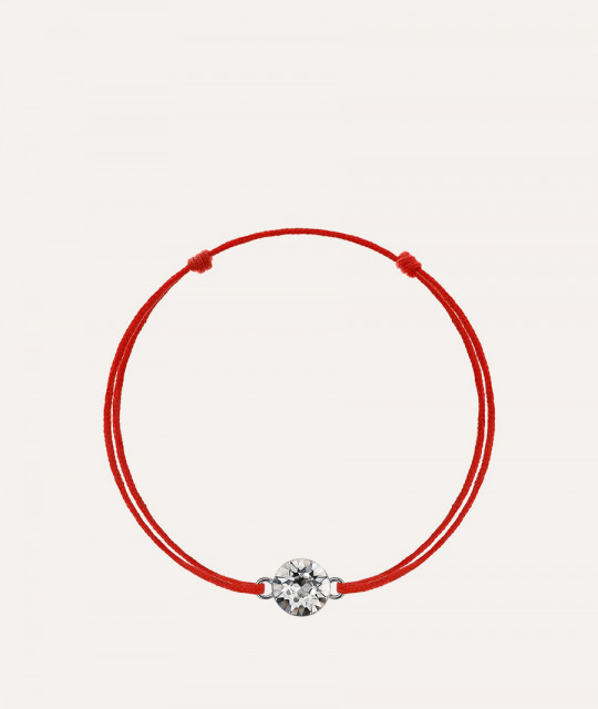 Red kabbalah with Swarovski Xirius crystal, Crystal Clear