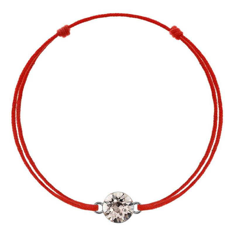 Красная каббала с кристаллом Swarovski Xirius, Silk