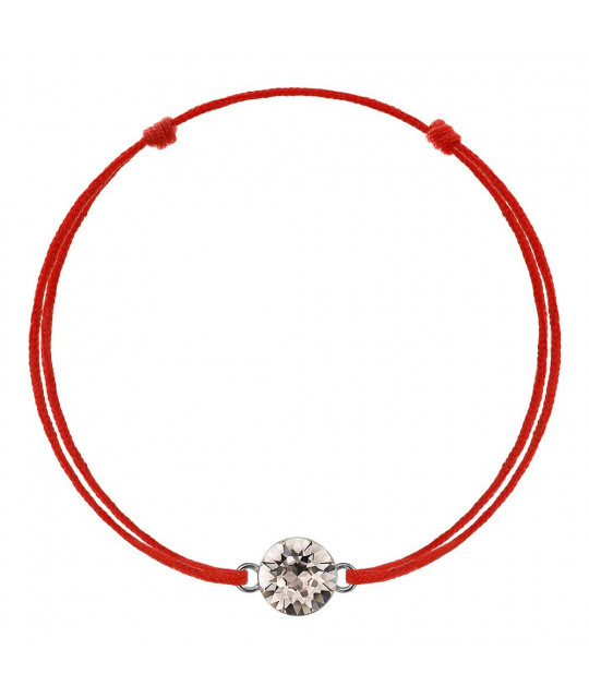 Red kabbalah with Swarovski Xirius crystal, Silk
