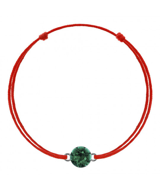 Kabbalah with Swarovski Xirius crystal, Emerald