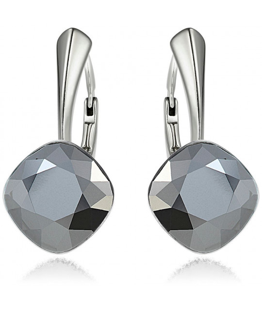 Earrings Princess Square, Light Chrome