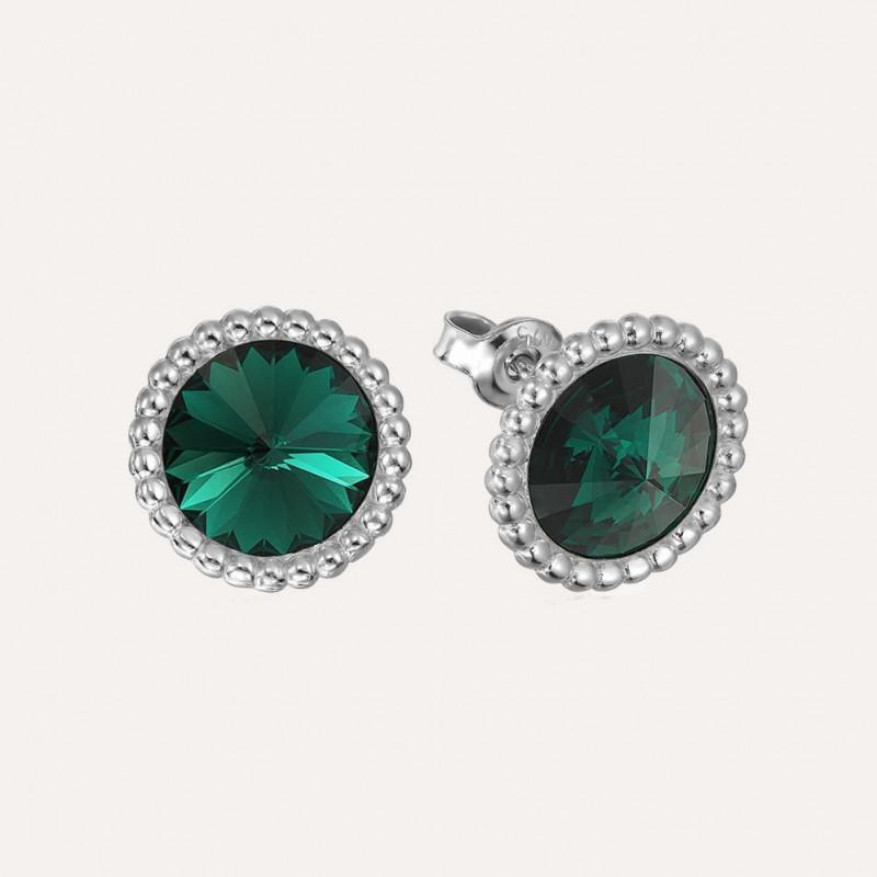 Earrings Rivoli Crown, Emerald