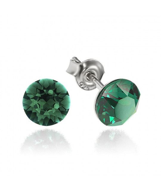 Earrings Xirius, Emerald, 6mm