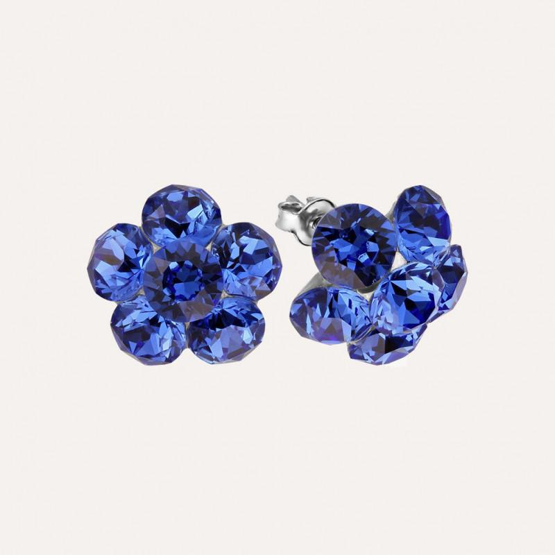 Earrings Xirius Flower, Sapphire
