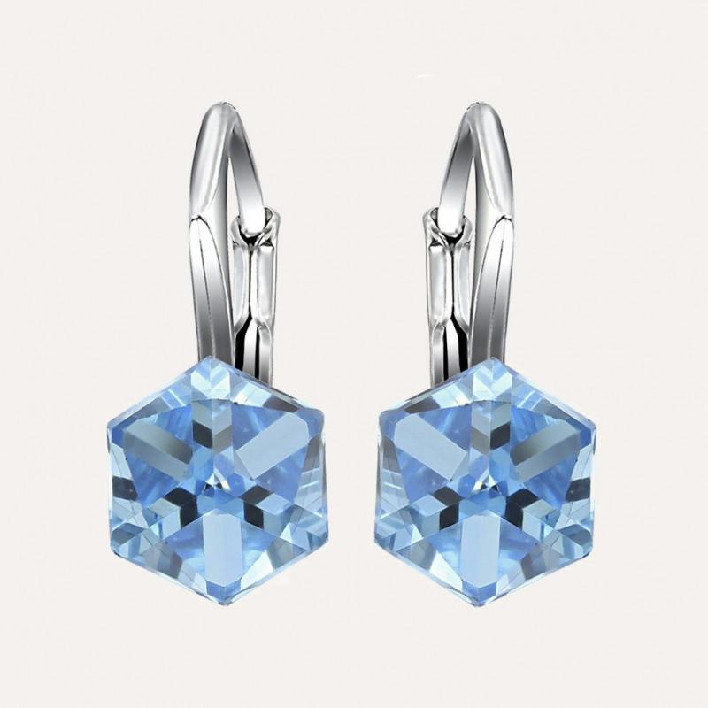 Kõrvarõngad Cubic, Aquamarine