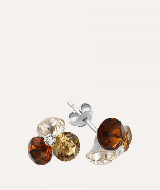 Earrings TriXirius, Smoked Topaz