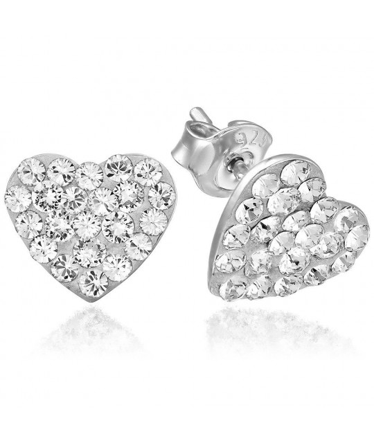 Auskari Chaton Heart, Crystal Clear