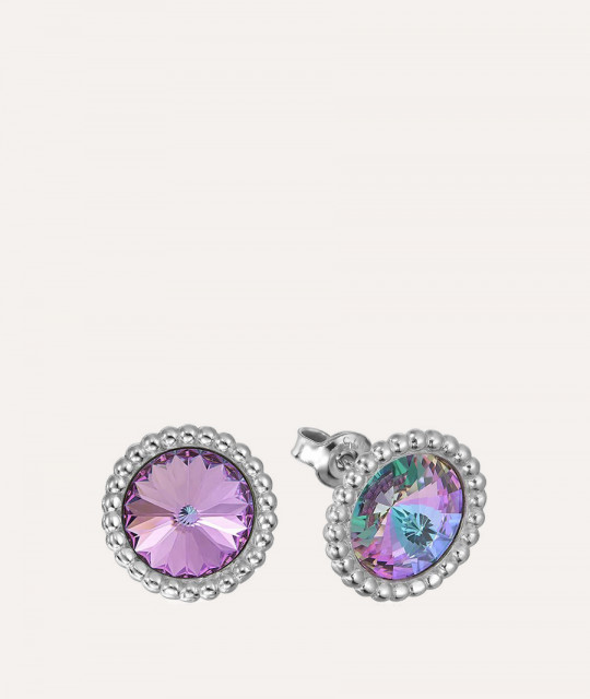Earrings Rivoli Crown, Vitrail Light