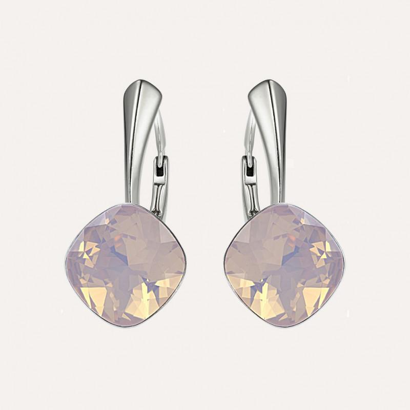 Earrings Princess Square, Opal Rose