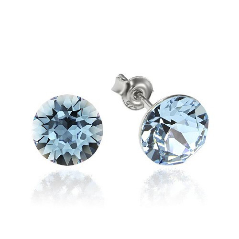 Earrings Xirius, Light Blue, 8 mm