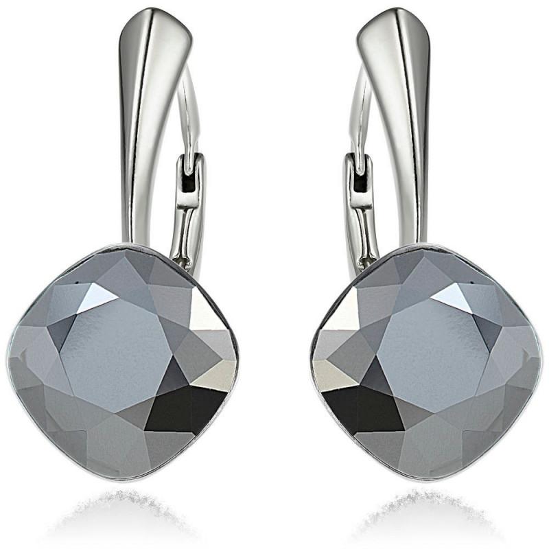 Earrings Princess Square, Light Chrome