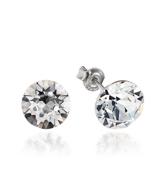 Earrings Xirius, Crystal Clear, 8 mm