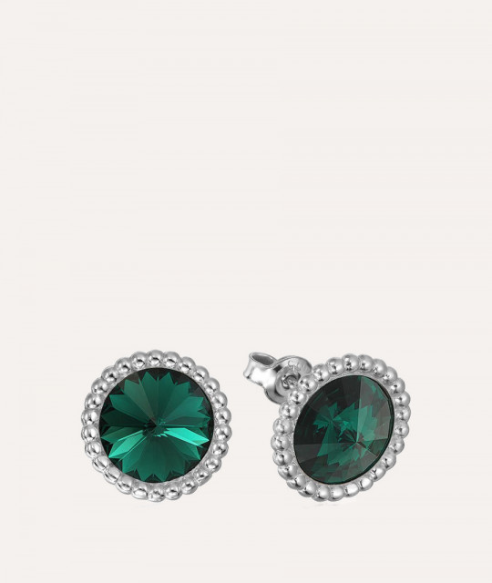 Серьги Rivoli Crown, Emerald