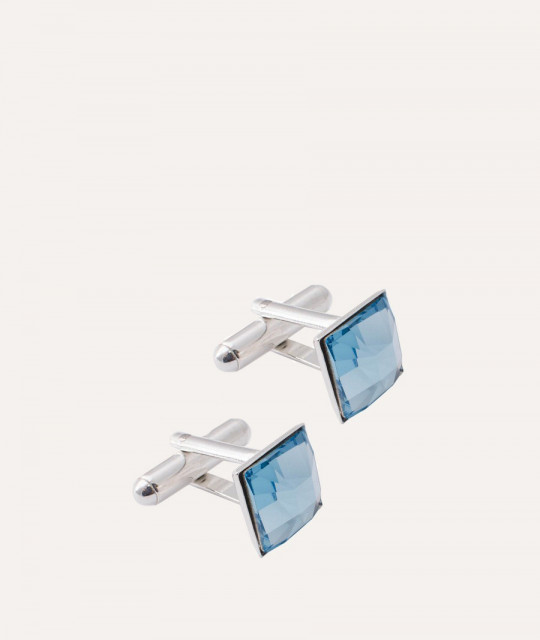 Cufflinks Square, Aquamarine