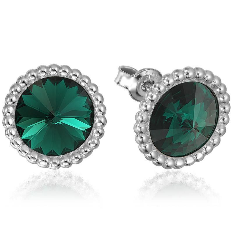 Earrings Rivoli Crown, Emerald