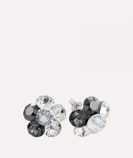 Earrings Xirius Flower, Black Shade