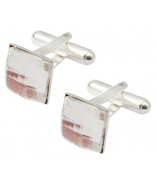Cufflinks Chessboard, Silver Shade