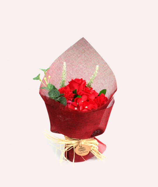 Buy Standing Soap Flower Bouquet - Red