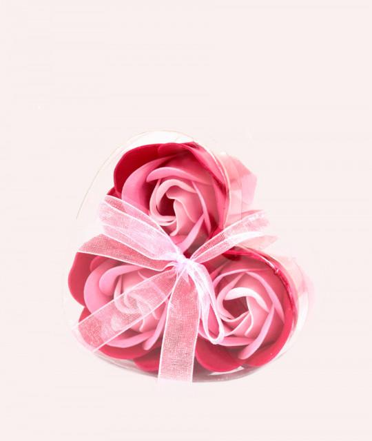 Komplekt 3 lilleseebiga, Roosad roosid