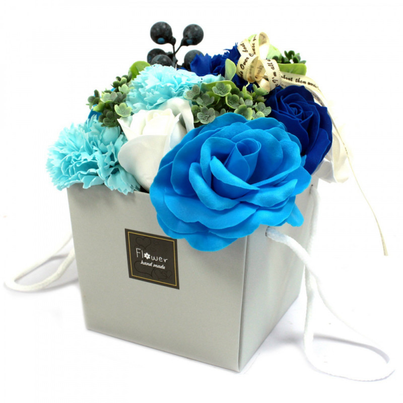 Soap Flower Bouqet - Blue Wedding