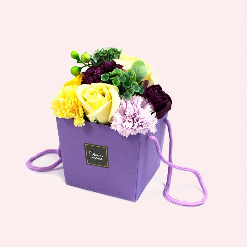 Soap Flower Bouqet - Purple Flower Garden