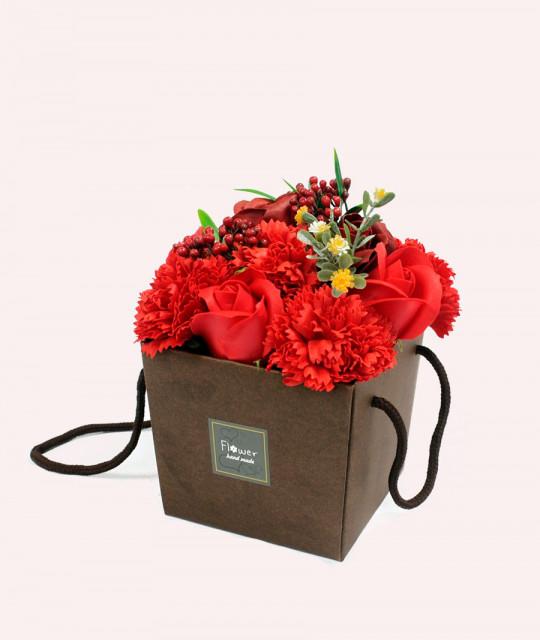 Lillekimp seebist karpis, Punane roos & nelk