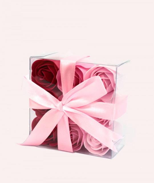 Komplekt 9 lilleseebiga, Roosad roosid
