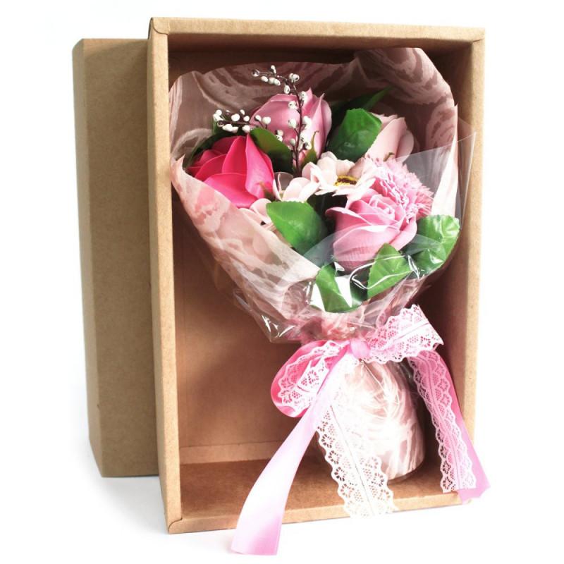 Pink Soap Flower Bouquet - Boxed