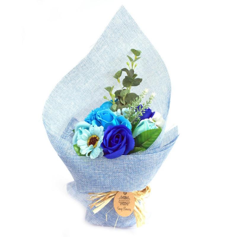 Buy Standing Soap Flower Bouquet - Blue