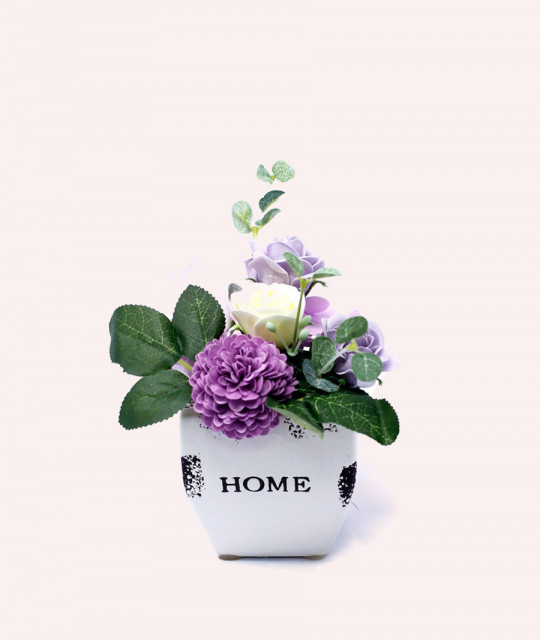 Bouquet Petite Flower Pot - Soft Lavender