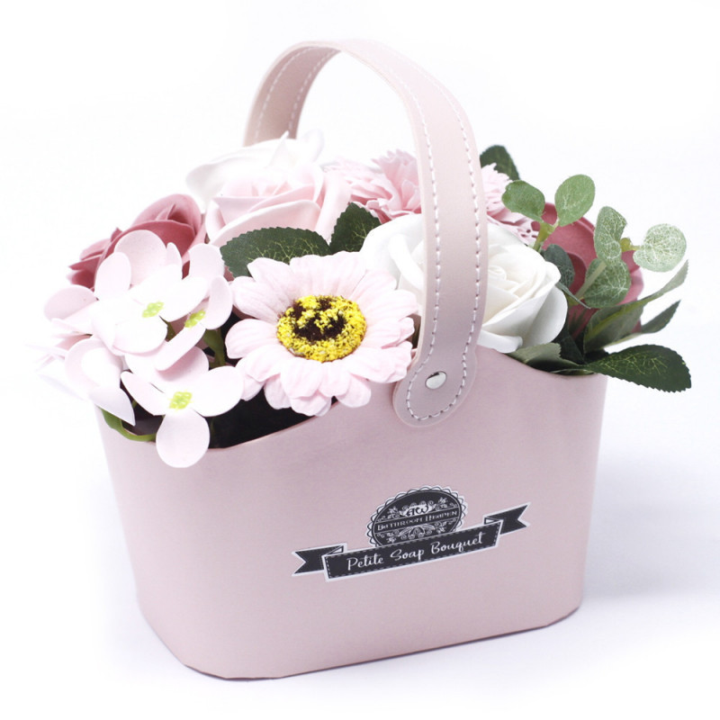 Bouquet Petite Basket - Peaceful Pink