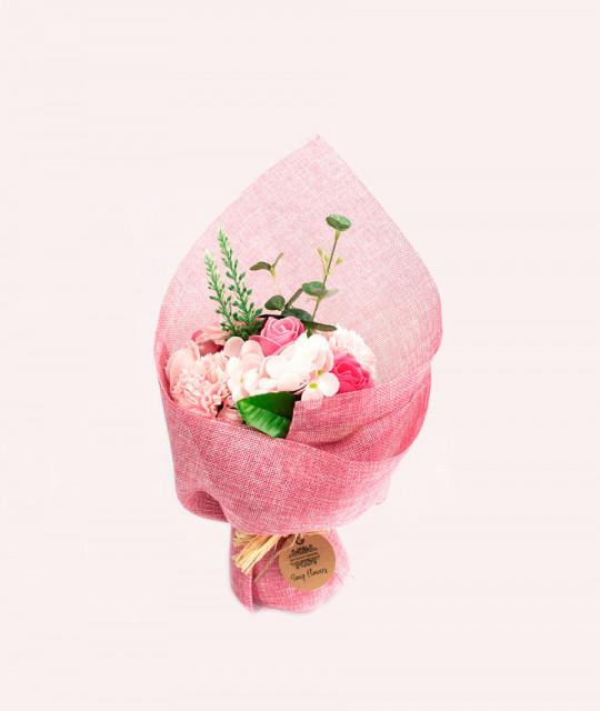 Seisev lillekimp seebist, Roosa
