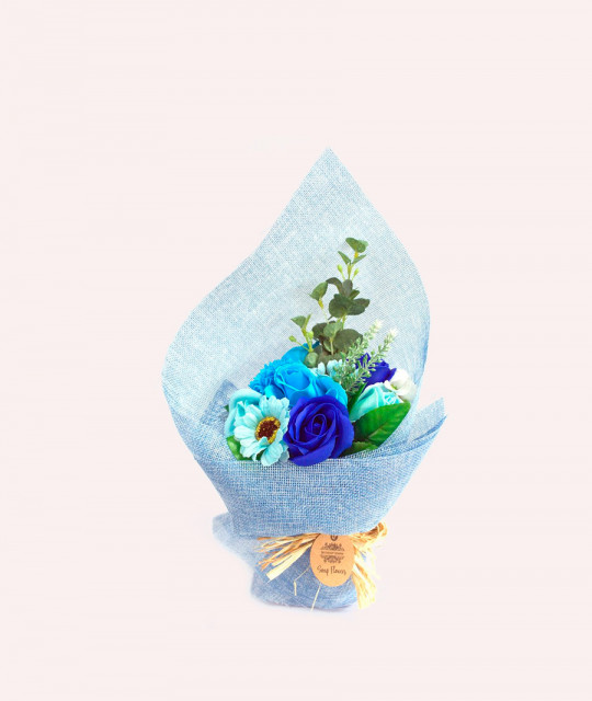 Buy Standing Soap Flower Bouquet - Blue