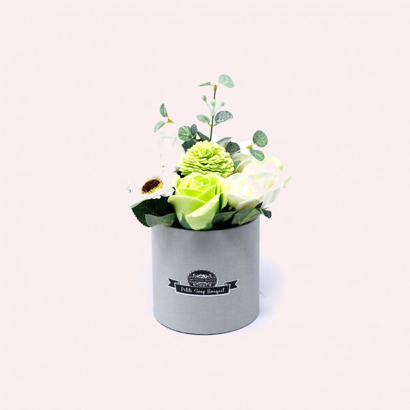Väike lillekimp karpis, Pastell roheline