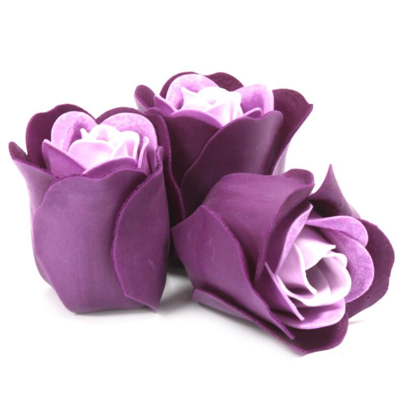 Komplekt 3 lilleseebiga, Lillad roosid