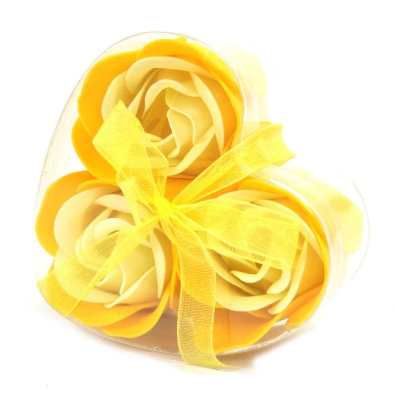 Комплект из 3 мыльных цветов, Весенние розы