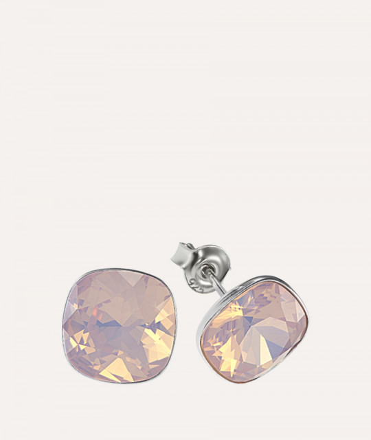 Earrings Princess Square, Opal Rose