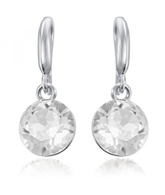 Earrings Xirius, Crystal Clear, 10 mm