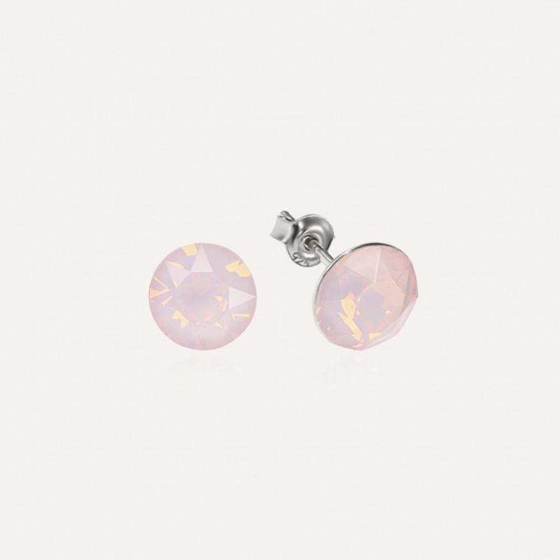 Earrings Xirius, Opal Rose, 8 mm