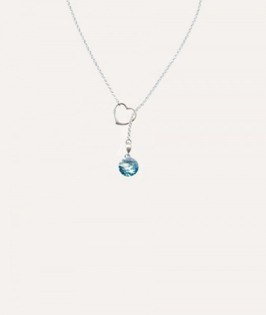 Pendant Xirius Heart, Aquamarine
